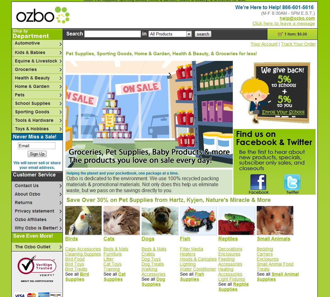 Pet Supply Stores::Review - Ozbo
